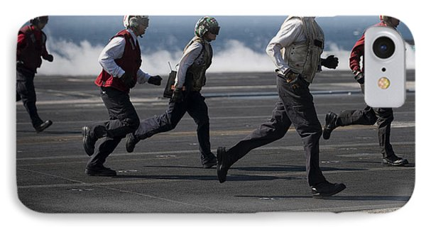 Sailors Clear The Landing Area Phone Case by Stocktrek Images