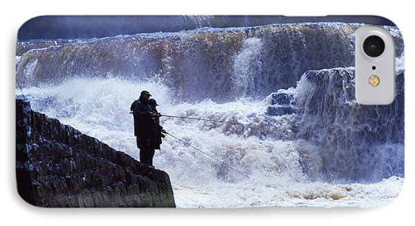 Salmon Fishing, Ballisodare River, Co Phone Case by The Irish Image Collection
