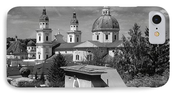 Salzburg Black And White Austria Europe Phone Case by Sabine Jacobs