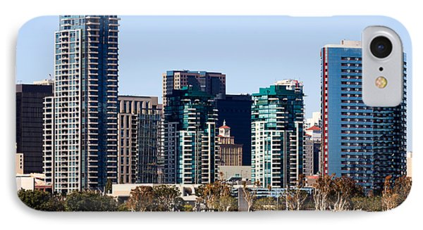San Diego California Skyline Phone Case by Paul Velgos