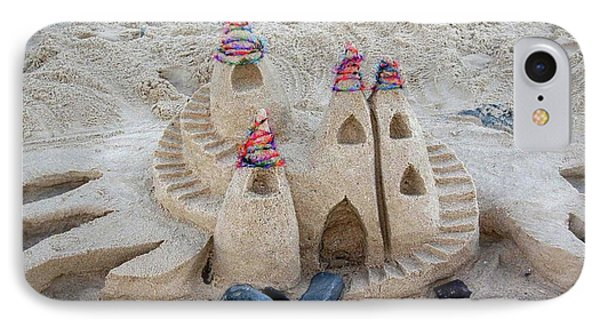 Sand Castle Phone Case by Karen Elzinga