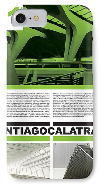 Santiago Calatrava Poster IPhone Case by Naxart Studio