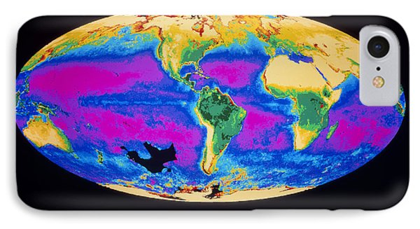 Satellite Image Of The Earth's Biosphere Phone Case by Dr Gene Feldman, Nasa Gsfc