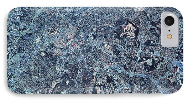 Satellite View Of Charlotte, North Phone Case by Stocktrek Images