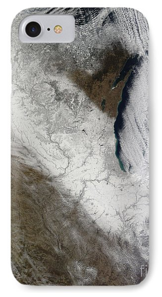 Satellite View Of Snow And Cold Phone Case by Stocktrek Images