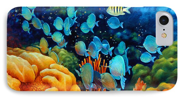 Sea Escape II - Wayward Fish IPhone Case by Nancy Tilles