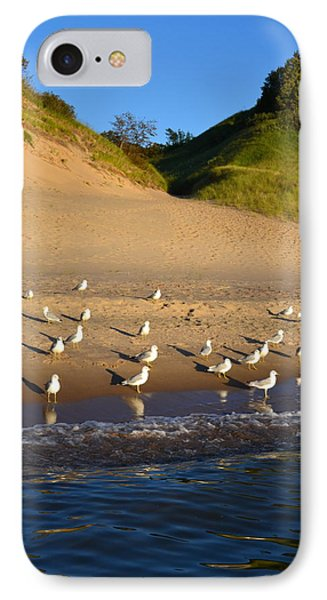 Seagulls At The Bowl Phone Case by Michelle Calkins