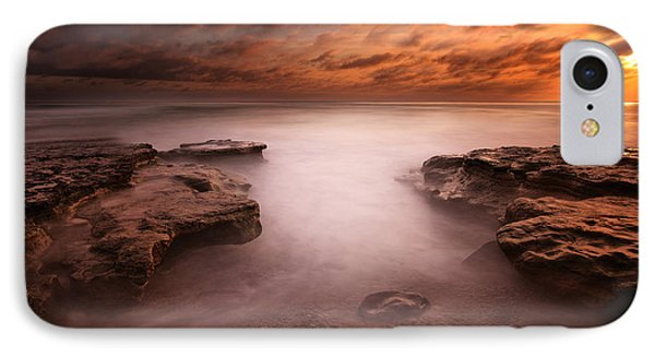 Seaside Reef Sunset 3 Phone Case by Larry Marshall
