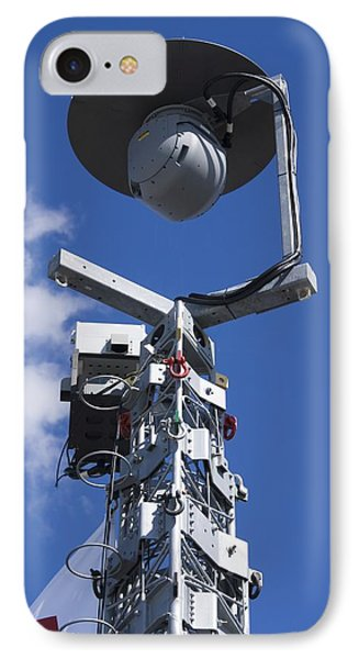 Security Camera On Tower. Phone Case by Mark Williamson