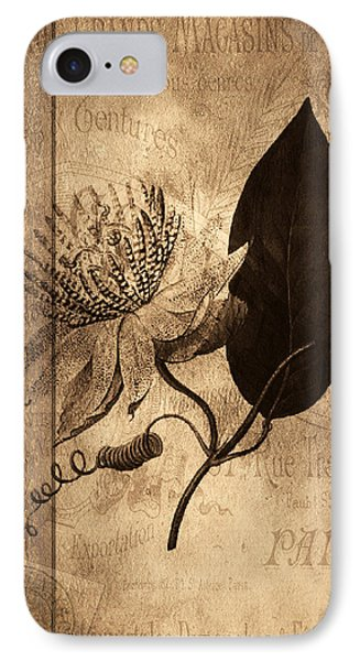 Sepia Botanical Phone Case by Bonnie Bruno