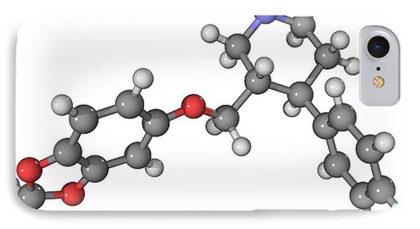 Seroxat Antidepressant Drug Molecule Phone Case by Laguna Design