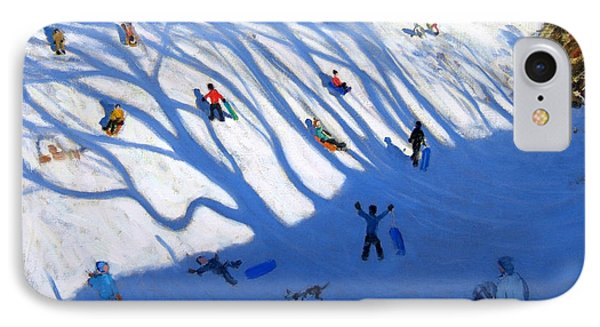 Shandows On A Hill Monyash Phone Case by Andrew Macara