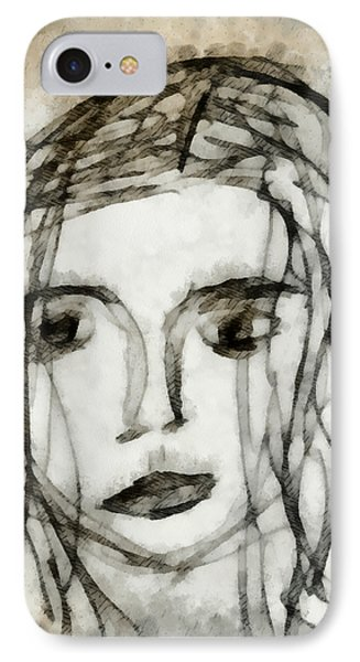She Sat Alone 2 IPhone Case by Angelina Vick
