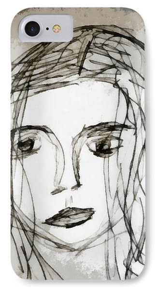 She Sat Alone IPhone Case by Angelina Vick