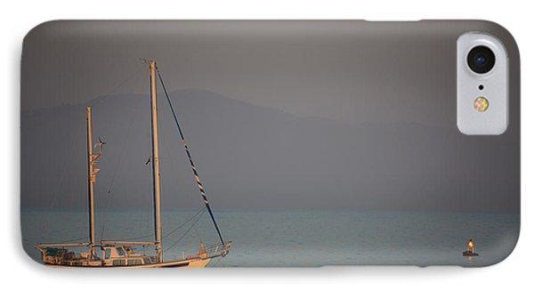 Ship In Warm Light Phone Case by Ralf Kaiser