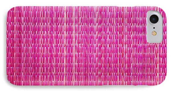Shocking Pink Woven Raffia Phone Case by Kantilal Patel