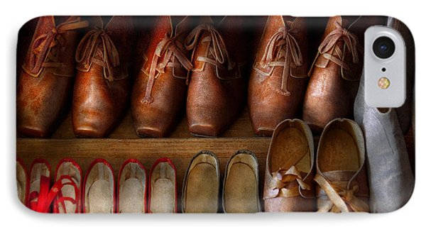 Shoemaker - Shoes Worn In Life Phone Case by Mike Savad