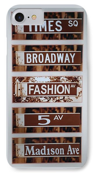 Signs Of New York Phone Case by Rob Hans