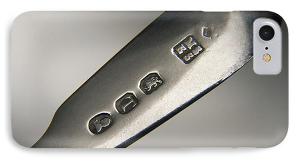 Silver Hallmarks, 1814 Phone Case by Sheila Terry