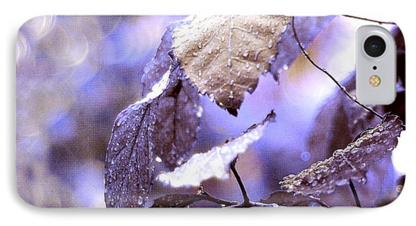 Silver Rain. The Garden Of Dreams Phone Case by Jenny Rainbow