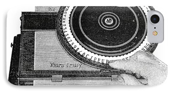 Simplex Typewriter, Early 20th Century IPhone Case by