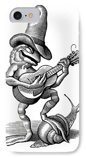 Singing Frog, Conceptual Artwork Phone Case by Bill Sanderson