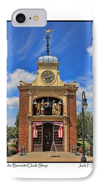 Sir John Bennett Clock Shop IPhone Case by Jack Schultz