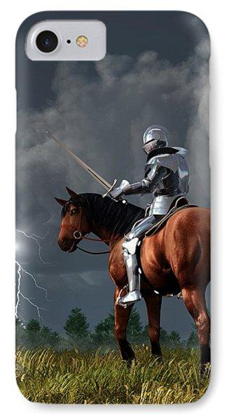 Sir Lightning Rod Phone Case by Daniel Eskridge