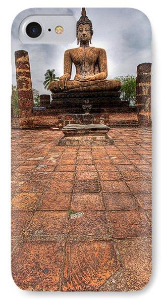 Sitting Buddha Phone Case by Adrian Evans