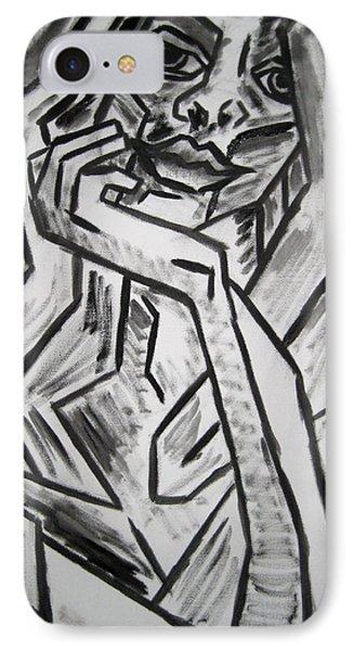 Sketch - Intrigued Phone Case by Kamil Swiatek