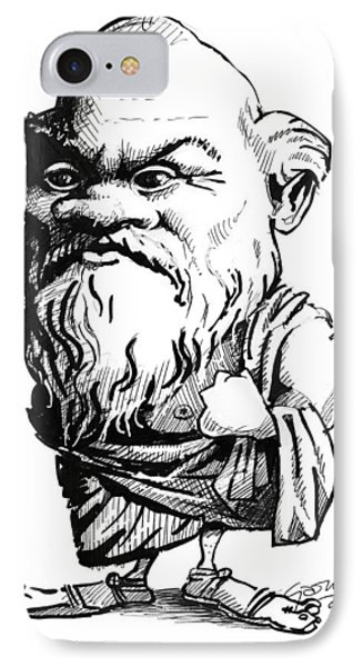 Socrates, Caricature Phone Case by Gary Brown