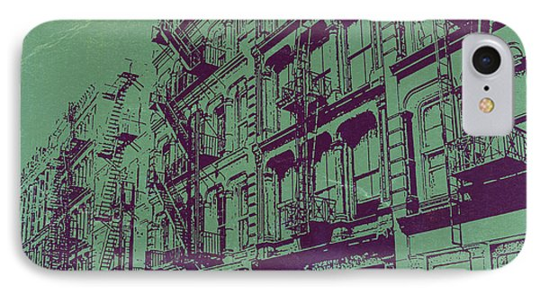 Soho New York Phone Case by Naxart Studio