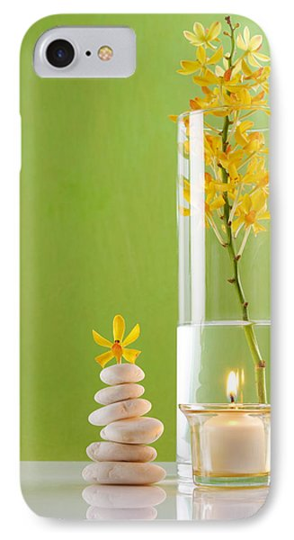 Spa Concepts With Green Background Phone Case by Atiketta Sangasaeng