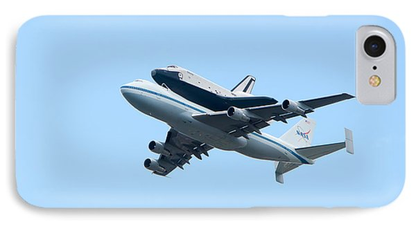 Space Shuttle Enterprise Arrives In New York City IPhone Case by Clarence Holmes