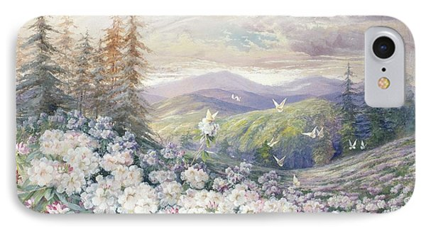 Spring Landscape IPhone Case by Marian Ellis Rowan