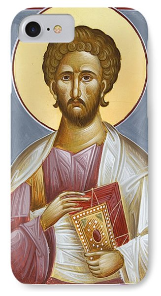 St Luke The Evangelist IPhone Case by Julia Bridget Hayes