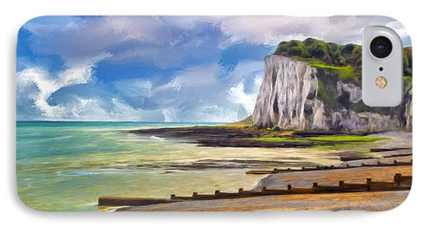 St. Margaret's Bay At Dover Phone Case by Dominic Piperata