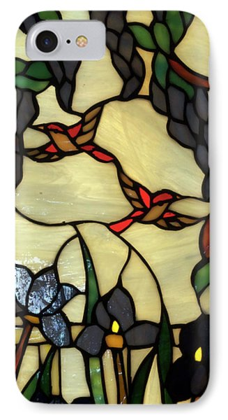 Stained Glass Humming Bird Vertical Window Phone Case by Thomas Woolworth