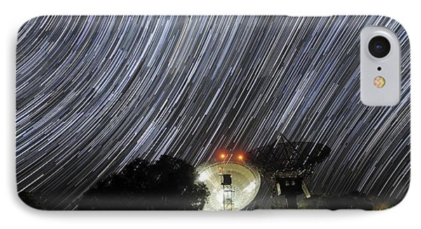Star Trails Over Parkes Observatory Phone Case by Alex Cherney, Terrastro.com