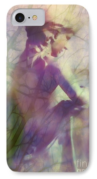 Statue In The Garden Phone Case by Judi Bagwell