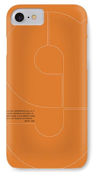 Steve Jobs Quote Poster 2 IPhone Case by Naxart Studio