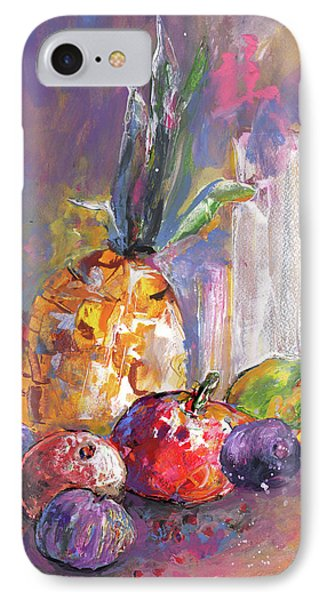 Still Life With Pineapple IPhone Case by Miki De Goodaboom