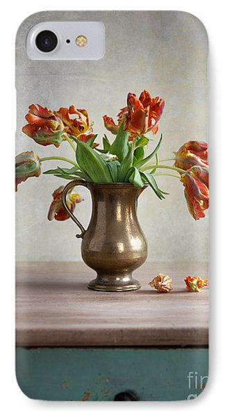 Still Life With Tulips IPhone Case by Nailia Schwarz