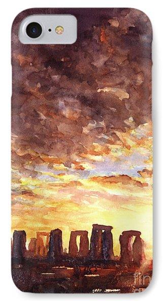 Stonehenge Sunrise Phone Case by Ryan Fox