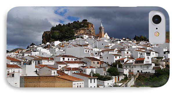Storm Clouds Over Ardales Spain Phone Case by Mary Machare