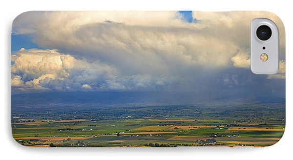 Storm Over The Kittitas Valley Phone Case by Mike  Dawson