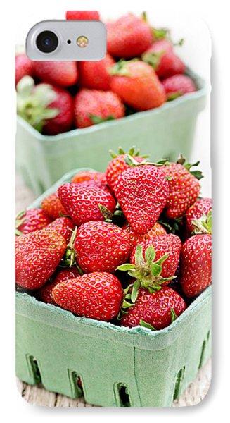 Strawberries IPhone Case by Elena Elisseeva