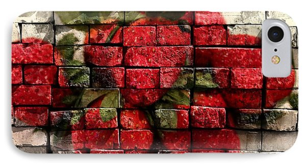 Strawberries On Bricks Phone Case by Barbara Griffin