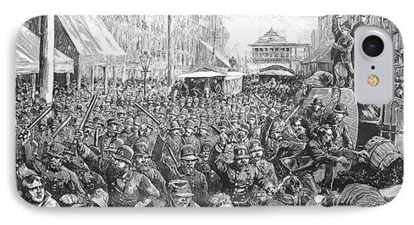 Street Car Strike, 1886 Phone Case by Granger