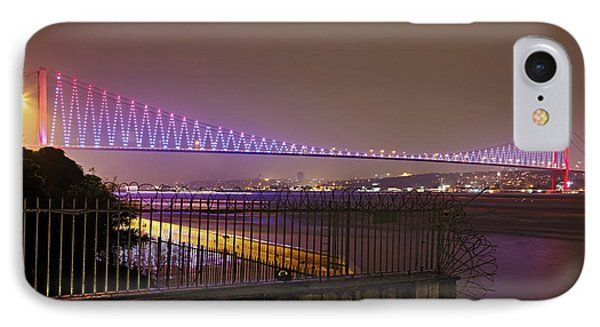 Stunning Istanbul Bridge IPhone Case by Kantilal Patel